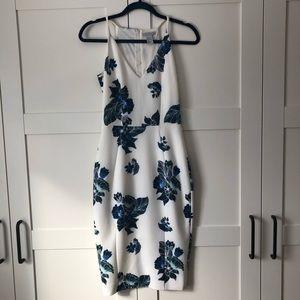 HM - midi, floral print dress